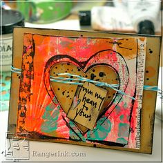 From My Heart Card by Dina Wakley | www.rangerink.com