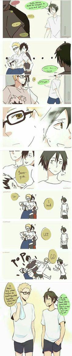 What i feel about kuro x tsukki ships Tsukishima X Yamaguchi, Haikyuu Tsukishima, Haikyuu Funny, Haikyuu Manga, Haikyuu Fanart, Manga Anime, Nishinoya, Haikyuu Volleyball, Volleyball Anime