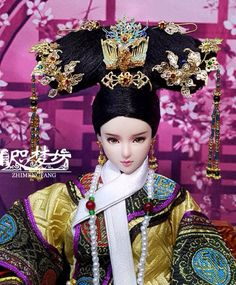 Ooak Dolls, Barbie Dolls, Doll Toys, Chinese Art, Chinese Dolls, Chinese Style, Asia, Qing Dynasty, Beautiful Fantasy Art