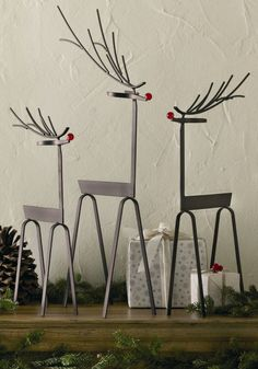 Woodlands Reindeer (Set of 3)
