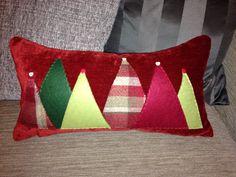 Christmas tree cushion.