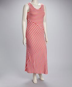Take a look at this Coral Plus-Size Maxi Dress by Jazzy Martini on #zulily today! $22.99, regular 52.00