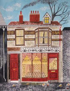 Oxtobys Decorators by Emily Sutton #illustration House Illustration, Naive Art, Art For Art Sake, Home Art, Emily May, Watercolor Paintings, Illustrations Posters, Drawings, Artwork