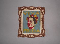 Day of the Dead  Frida Kahlo Iron On Rockabilly Patch