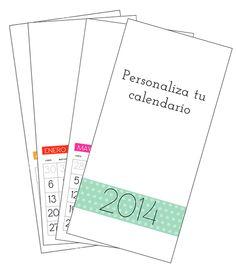 Calendario 2014 para personalizar. Lo puedes descargar gratis en: http://manualidades.euroresidentes.com/2013/10/como-hacer-calendario-personalizado-2014.html