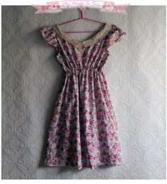 Cute romantic floral dress with open back  by MyNameIsSueclothes https://www.facebook.com/pages/MyNameIsSue/287566731284089?hc_location=timeline