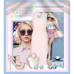 """Pastel dress"" by mzbossyfashions11 on Polyvore"