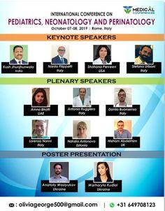 Medical Conferences, Pediatric Nursing, Keynote Speakers, Pediatrics, Rome, Health Care, Presentation, Knowledge, Meet