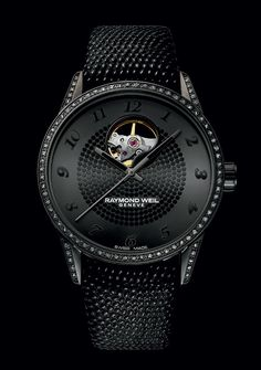«So chic, so black» RAYMOND WEIL Freelancer Lady Urban Black (See more at:http://watchmobile7.com/articles/raymond-weil-freelancer-lady-urban-black) (2/2) #watches #raymondweil @Raymond Zhang WEIL