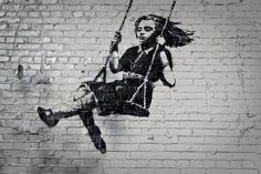 """Street Art Of World's Most Famous Unidentified Person """"Banksy ..."""