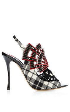 Shop MO Exclusive: Studded Tartan Peeptoe Bootie by Nicholas Kirkwood Now Available on Moda Operandi Funky Shoes, Crazy Shoes, Me Too Shoes, Zapatos Shoes, Shoes Heels, Mode Shoes, Louboutin, Killer Heels, Nicholas Kirkwood