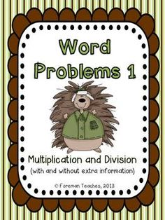 This product is Common Core Aligned - Grade 4     4.NBT.5 and 4.NBT.6  This product contains 24 word problem cards.    Students are asked to:  Read each word problem.  Write and solve the equation on their recording sheet.  Be sure to show their work in the correct box.    Answer key and a student recording sheet are included.