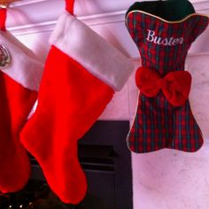 bone-shaped doggy stocking- super cute idea!