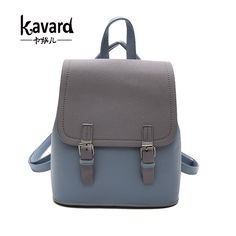 Womens Leather Backpack Girl Tower Bird Shoulder Purse Travel School Lady Bag