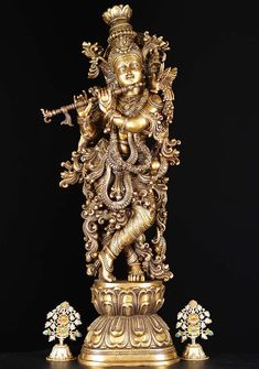 Check out the deal on Brass Ornate Gopal Krishna Statue with Peacock at Hindu Gods & Buddha Statues Krishna Lila, Krishna Radha, Hanuman, Hindus, Hindu Statues, Buddha Statues, Krishna Statue, Tanjore Painting, Krishna Painting
