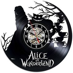 Alice In Wonderland Vinyl Record Wall Clock - Decorate yo...