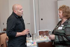 Justin Herald and Noanie at the Business Women Connect Meeting