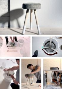DIY Hocker aus beton