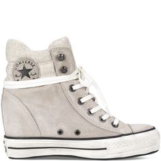 54c3dbb4c681 Chuck Taylor Platform Plus Collar portrait grey Converse Wedges