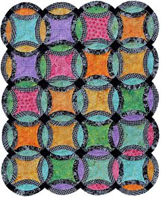 Allisyn's Wedding Ring, quilt kit, pattern by Judy Niemeyer Quilting, at Canton Village Quilt Works