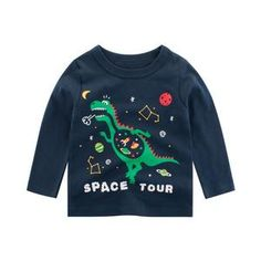 Toddler Kids Boys T-shirt Tops Baby Outfits Dinosaur Spring Fall Costumes Cute Tshirts, Boys T Shirts, Casual T Shirts, Baby Boys, Baby Boy T Shirt, Dinosaur Shirt, Cartoon Outfits, Kids Tops, T Rex