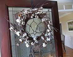 Whd Cotton Ball Wreath For Front Door Wedding Anniversary Centerpiece Indoor Wal. Whd Cotton Ball Wreath For Front Door Wedding Anniversary Centerpiece Indoor Wall Rustic Primitive Country Farmhouse Decor, Country Primitive, Primitive Decor, Farmhouse Furniture, Modern Farmhouse, Anniversary Centerpieces, Wreaths For Front Door, Front Doors, Door Wreaths