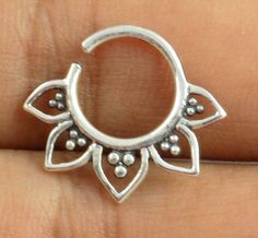 1 Piece 925 Sterling Silver Septum Nose Ring,Tribal Jewelry,Indian Septum Ring #luctsa
