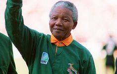 Nelson Mandela is cheered on by white fans during the 1995 Rugby World Cup final. Nelson Mandela, Jacob Zuma, South African Rugby, African National Congress, Inspirational Leaders, Sports Day, World Cup Final, Rugby World Cup, World Cup
