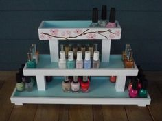 Wood Nail Polish 3 Tier Table Top Rack by NLpalletcreatives, $39.99