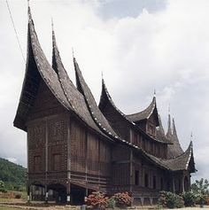 Rumah Gadang (House of Traditional Minangkabau, West Sumatra)