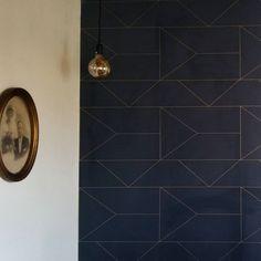 ferm LIVING Lines Wallpaper: http://www.fermliving.com/webshop/shop/wallpaper/lines-wallpaper-dark-blue.aspx