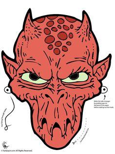 Fantasy Jr 6 Eyed Alien Printable Halloween Mask Monster