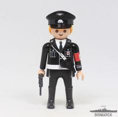 Click Customizado Oficial SS Das Reich  Adaptacion de un playmobil, customizado como oficial de la SS Das Reich con pistola Luger P08