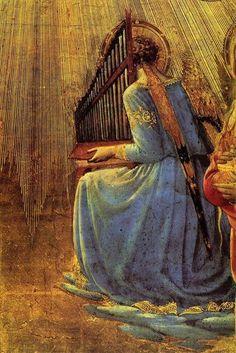 Fra Angelico (Italian, 1395-1455) - Coronation of the Virgin (detail), 1434-1435
