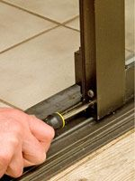 fix handle, track, and paint  Sliding Patio Door Repairs - How to Repair Any Door in Your House. DIY Advice