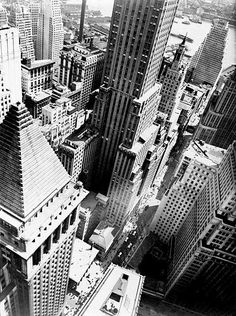Berenice Abbott (American, Wall Street Showing East River from Roof of Irving Trust Co. Building, May - Available at 2018 October 12 Photographs. Berenice Abbott, Tachisme, Alfred Stieglitz, Edward Steichen, Wall Street, Cities, A New York Minute, Empire State Of Mind, City Architecture