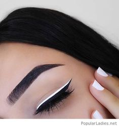 Black and white makeup and nails