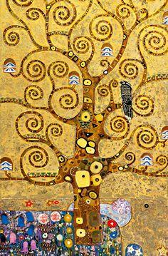Gustav Klimt - Tree of Life - Art Nouveau - Vienna 1905 Gustav Klimt, Art Klimt, Art Nouveau, Tableaux Vivants, Painter Artist, Art Plastique, Tree Art, Tree Of Life Artwork, Oeuvre D'art