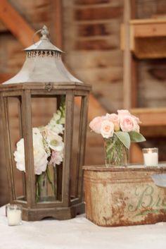 flowers in a lantern <3