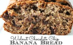 Walnut, Chocolate Chip, Banana Bread - Perfect pairing for your morning cup of coffee.