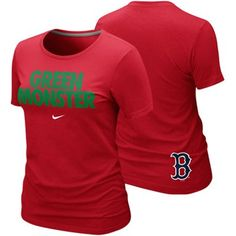 Nike Boston Red Sox Ladies Green Monster Local Premium T-Shirt. not a big boston fan, but shoot for this shirt, i could be a bandwagon fan
