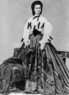 1864 Kaiserin Elisabeth by Ludwig Angerer. Beautiful Victorian crinoline fashion.