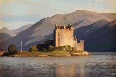 Konstantin Brailo - Virtual Plein Air - Eilean Donan Castle, Scotland https://fbcdn-sphotos-d-a.akamaihd.net/hphotos-ak-xpa1/t31.0-8/10496094_804114746286986_4182322851450820129_o.jpg