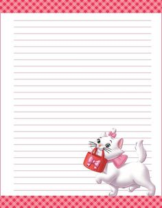 papel de carta Printable Lined Paper, Free Printable Stationery, Journal Paper, Journal Cards, Diy Paper, Paper Crafts, Hello Kitty, Art Carte, Notebook Paper
