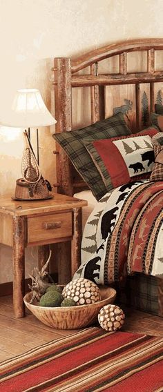 Find This Pin And More On Log Homes Log Cabins And Timber Frame Moose Creek Log Bedroom Furniture