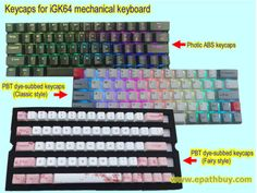 ) keycaps sets (photic ABS keycaps, PBT dye-subbed keycaps) - Custom mechanical keyboards shop online store, group buy Diy Mechanical Keyboard, Online Shopping Stores, Classic Style, Periodic Table, Abs, Periodic Table Chart, Crunches, Periotic Table, Abdominal Muscles
