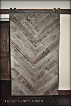 Past Project: Herringbone Barn Door