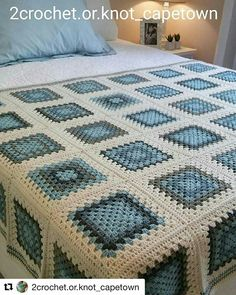 Crotchet Baby Blanket, Crochet Ripple Blanket, Crochet Bedspread, Crochet Quilt, Granny Square Crochet Pattern, Afghan Crochet Patterns, Crochet Squares, Plaid Crochet, Knit Or Crochet
