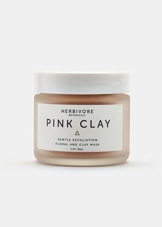 Pink Clay Mask from Rodale's. *Rodale's Staff Favorite* #HerbivoreBotanicals #mask #beauty #naturalbeauty