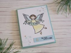 Joy to the World Angel Christmas card made with Wonder of Christmas stamp set…